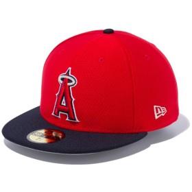 【メーカー取次】 NEW ERA ニューエラ 59FIFTY MLB On-Field バッティングプラクティス Hex Tech ロサンゼルス・エンゼルス 11904414(レッドXネイビー 表記7 5/8)