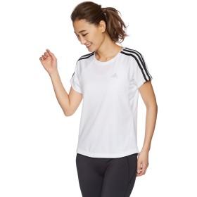 [アディダス] トレーニングウェア 定番3ストライプ半袖Tシャツ [レディース] FTF34 ホワイト (DV2246) 日本 J/OT (日本サイズ2L相当)