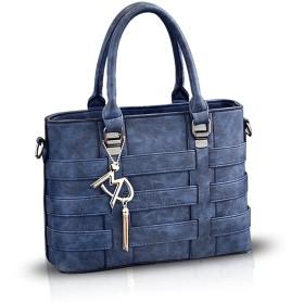 NICOLE&DORIS 女性ハンドバッグ・クロスボディは、女性柔らかいPU財布のために肩掛け鞄ショルダーバッグを運びます 青