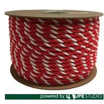 ユタカ アクリル紅白ロープ 12mm×100m [PRZ-65]  PRZ65 販売単位:1
