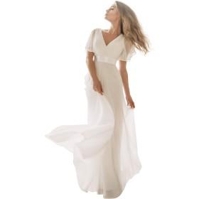 Ever-Pretty(エワープリティ) ロングドレス レディース ホワイト XL