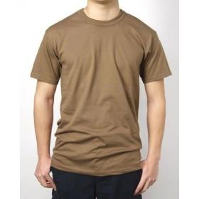 Tシャツ、US.キャンプベル、ブラウン(T42N-M)ポリエステール、階級章ワッペン付