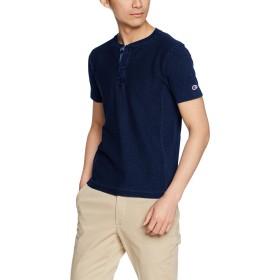 [チャンピオン] リバースウィーブ ヘンリーネックTシャツ C3-M305 メンズ インディゴ 日本 L (日本サイズL相当)