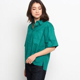 Dessin(Ladies)(デッサン:レディース)/リップルストライプシャツ