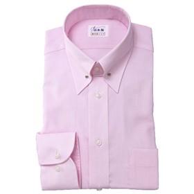 ワイシャツ メンズ長袖(形態安定シャツ)ピンホールカラー ピンク系ロイヤルOX 軽井沢シャツ [A10KZZP18] ゆったり型