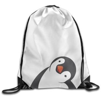 巾着&バック ペンギン 可愛い 萌え 男女兼用 ビームポート スポーツ用 通勤 アウトドア White One Size