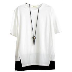 Infabe Tシャツ メンズ カジュアル Uネック 半袖 夏 ファッション 大きいサイズ かっこいい 夏服
