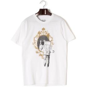 【52%OFF】MIRROR MIRROR プリント クルーネック 半袖Tシャツ ホワイト s
