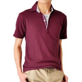 (アローナ) ARONA スキッパー ポロシャツ メンズ 半袖/M1.5/43Bワイン L