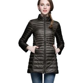 Niceast 女性ライトダウンジャケット超軽量冬のジャケット暖かい防風性ロングスタイル ダックダウンジャケット