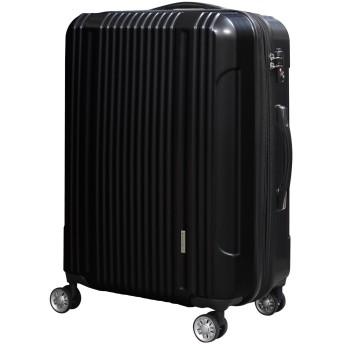 スーツケース 大容量 キャリーバッグ 超軽量 拡張機能付き 8輪 Wキャスター TSAロック 2040 小型 Sサイズ ブラック(2040-S-Black)
