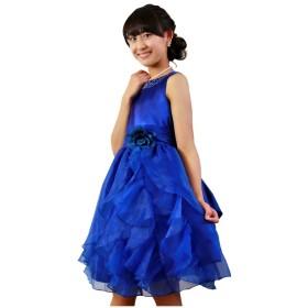 子供ドレス 301006 女の子 キッズ ジュニア [プリンセスセレクション] Princess Selection 140cm ロイヤルブルー