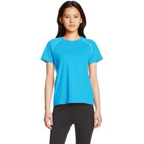 [ミズノ]  トレーニングウェア 半袖Tシャツ ナビドライ 肩ロゴ 吸汗速乾 UPF15 日焼け防止 レディース 32MA5336 23 ターコイズ S