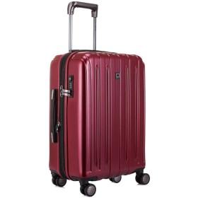 DELSEY デルセー スーツケース mサイズ 中型 キャリーケース 拡張可能 キャリーバッグ VAVIN マット加工 大容量 軽量 TSAロック 5年国際保証付 56L&レッド