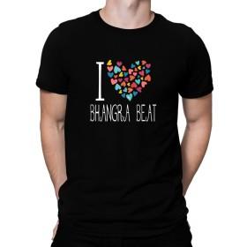 I love Bhangra Beat colorful hearts Tシャツ
