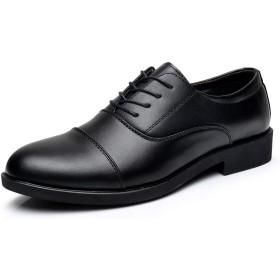[クルーズライン] メンズ 内羽根 ストレートチップ ビジネス シューズ 靴 レースアップ フォーマル 革靴 通勤 冠婚葬祭 就活 B82 (26, ブラック)