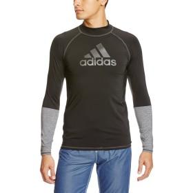 (アディダス)adidas スイミングウェア ラッシュガード 長袖プルオーバー パーカー MKM37 [メンズ] BK5627 ブラック/コアヘザー J/O