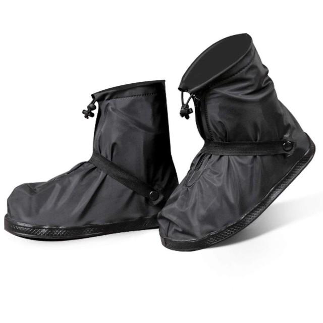 [MaxWant] シューズカバー 靴カバー メンズ レディース 防水 雨 雪 泥除け 滑り止め 軽量 携帯可 (XL, ブラック)