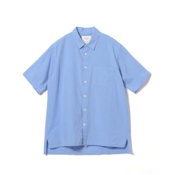 (ビームスライツ)BEAMS LIGHTS/半袖シャツ/ブロード レギュラーカラー 半袖シャツ メンズ SAX L