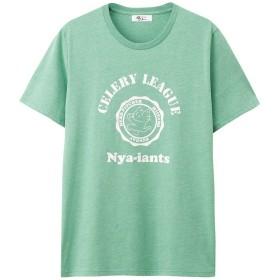 猫ピッチャープリントTシャツ HF155-MC004 メンズ シロ:L