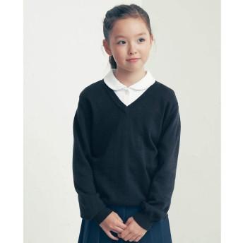 [ベルメゾン] 【通園・通学・制服】Vネックセーター ネイビー サイズ:130