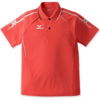 (ミズノ)MIZUNO 卓球 ユニセックス ゲームシャツ 82JA5010 62 レッド×シルバー×ブラック XS