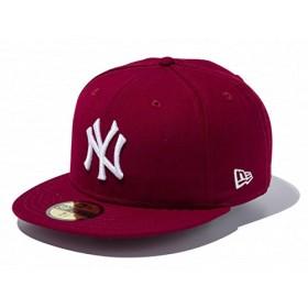 ニューエラ 59FIFTY カスタム ニューヨーク・ヤンキース 11308556 カーディナル/ホワイト Newyork Yankees cardinal/white NY 8(63.5cm)