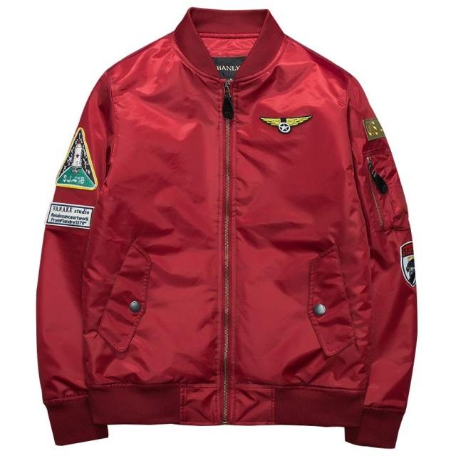 NCF MA-1 エムエーワンジャケット ミリタリフライトジャケット メンズ 薄手 ジャケット ネイビー 4色 M-3XL レッド 2XL