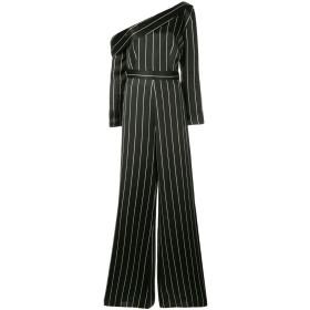 Safiyaa London ストライプ ジャンプスーツ - ブラック