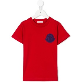 Moncler Kids ロゴパッチ Tシャツ - レッド