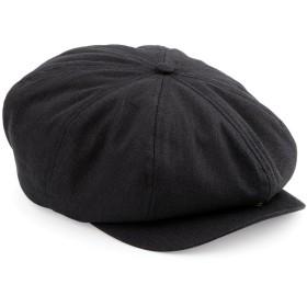 (ビーチフィールド) Beechfield メンズ クラシック ヘリンボーン キャスケット ニュースボーイキャップ 帽子 ハット 男性用 (L/XL) (ブラック)