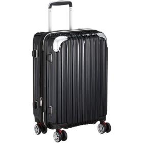 [シフレ] ハードジッパースーツケース キャリーケース 機内持込 容量アップ拡張機能付 Sサイズ 小型 1年保証付 35-40L TRIDENT トライデント TRI2035-49 保証付 40L 49 cm 3.3kg ブラック