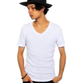 (エイト) 8(eight)5color 無地 Vネック 半袖Tシャツ インナー カットソー ホワイト M