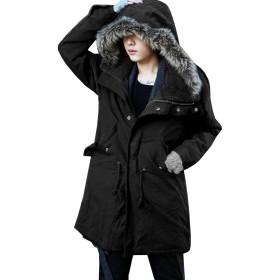 (ネルロッソ) NERLosso モッズコート メンズ コート メンズコート カジュアル ビジネス ロング ショート ファー 大きいサイズ ミリタリー 正規品 XXL ブラック cmh24544-XXL-bl