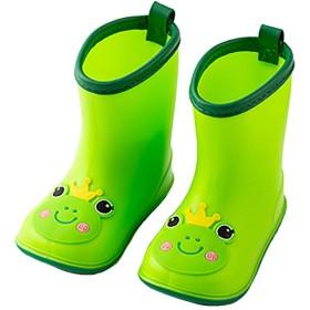 [iCoole] レインシューズキッズ レインブーツキッズ 雨靴キッズ 軽量 安全 (18cm, ネイビー)