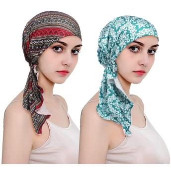 EINSKEY 医療用帽子 レディース スカーフ 、夏 レディース ターバン 多用途の頭飾りは眠り、化学療法 、 キャンサーと脱毛症に適用する。