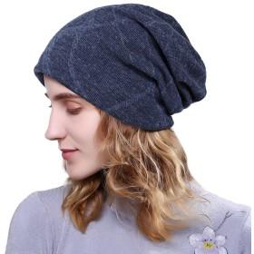 Zhuhaitf 男女兼用 暖かい快適で ニット帽 Men Women Warm Winter Baggy Beanie ベレー ニット帽子 Fleece Lined Knit Slouchy Hat Ski Skull Cap