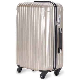 strike(ストライク)超軽量 2年保証 スーツケース カラー限定 TSAロック搭載 旅行バック トランクケース 旅行カバン (中型アウトレット, シャンパンゴールド)