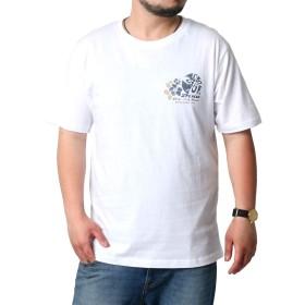 [ピコ] 大きいサイズ メンズ Tシャツ 半袖 ホワイト 4L