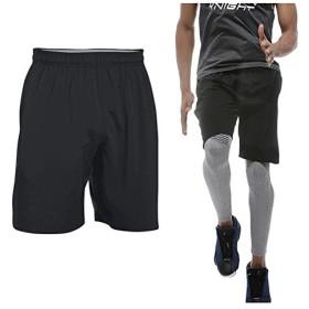 【LOUJO】 コンプレッションウェア ショートパンツ ドライハーフパンツ メンズ 半ズボン トレーニング 吸汗速乾 MEN パンツ ブラック (L)