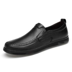 春メンズレザーホワイトビジネスカジュアルシューズ手作りメンズシューズセット足ソフトレザーお父さんの靴レザーシューズ-black-37