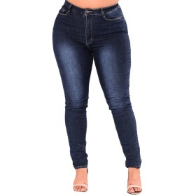 Zhhlinyuan レディース ヴィンテージ 高い ウエスト ジーンズ スリミング 伸縮性 ジェギングス Stretchy Jeggings Jeans 女性 大サイズ