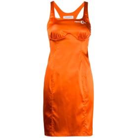 Marine Serre ノースリーブ テーラード ドレス - オレンジ