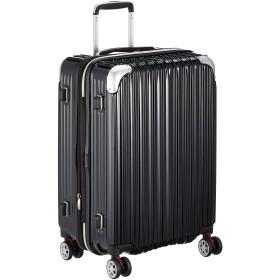[シフレ] ハードジッパースーツケース キャリーケース 容量アップ拡張機能付 Mサイズ 中型 1年保証付 62-68L TRIDENT トライデント TRI2035-56 保証付 68L 56 cm 3.8kg ブラック