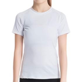 スポーツシャツ レディース 半袖 [UVカット・吸汗速乾] コンプレッションウェア フィットネス ヨガ トレーニング インナーシャツSホワイト