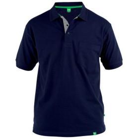 (デューク・D555) Duke D555 メンズ Grant 大きいキングサイズ ピケ 半袖 ポロシャツ (4XL) (ネイビー)