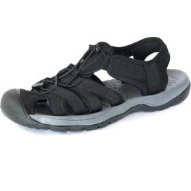 [LAD WEATHER] [ラドウェザー]スポーツ サンダル 軽量 滑り止め 耐衝撃 メンズ シューズ 靴 ladshoes002 (24.5, ブラック)
