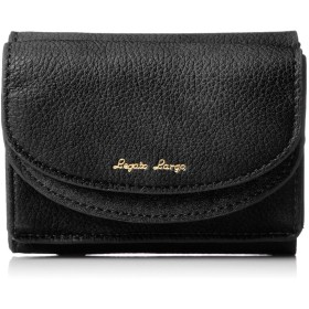 [レガートラルゴ] ミニ財布 LJ-F1672 グレースフェイクレザー×スエード ダブルフラップ三つ折りミニ財布 ブラック
