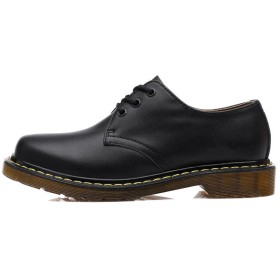 Placck 男女兼用マーチンシューズ本革革靴オックスフォードシューズローカット大きいサイズカジュアルレースアップシューズ防水歩きやすいオールシーズンHei36