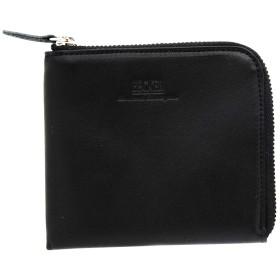 薄マチL字ファスナー財布 ショート 栃木レザー BECKER(ベッカー)日本製 (ブラック)
